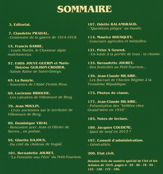 Sommaire 14